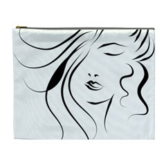 Womans Face Line Cosmetic Bag (xl)