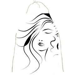 Womans Face Line Full Print Aprons