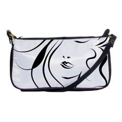 Womans Face Line Shoulder Clutch Bags