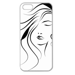 Womans Face Line Apple Seamless Iphone 5 Case (clear)
