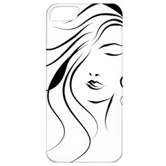 Womans Face Line Apple Iphone 5 Classic Hardshell Case