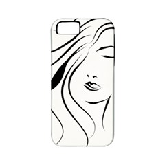 Womans Face Line Apple Iphone 5 Classic Hardshell Case (pc+silicone)