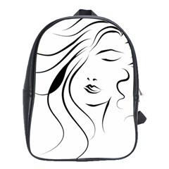 Womans Face Line School Bag (xl)
