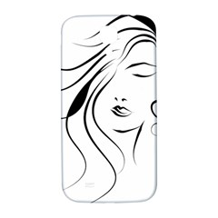 Womans Face Line Samsung Galaxy S4 I9500/i9505  Hardshell Back Case