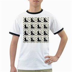 Deer Boots White Black Ringer T Shirts