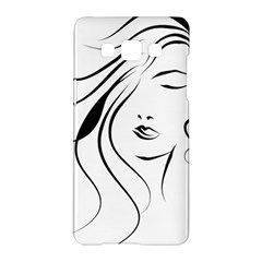 Womans Face Line Samsung Galaxy A5 Hardshell Case