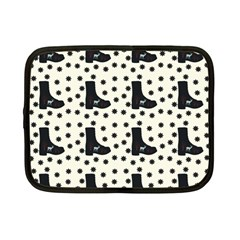 Deer Boots White Black Netbook Case (small)