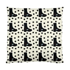 Deer Boots White Black Standard Cushion Case (one Side)