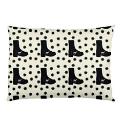 Deer Boots White Black Pillow Case