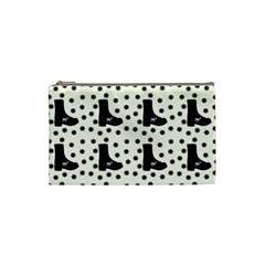 Deer Boots White Black Cosmetic Bag (small)