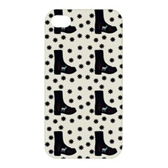 Deer Boots White Black Apple Iphone 4/4s Hardshell Case