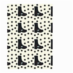 Deer Boots White Black Small Garden Flag (two Sides)