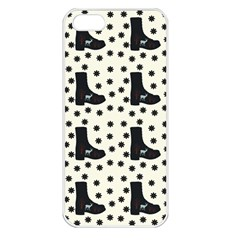 Deer Boots White Black Apple Iphone 5 Seamless Case (white)