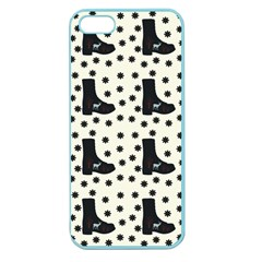 Deer Boots White Black Apple Seamless Iphone 5 Case (color)