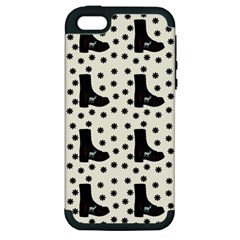 Deer Boots White Black Apple Iphone 5 Hardshell Case (pc+silicone)