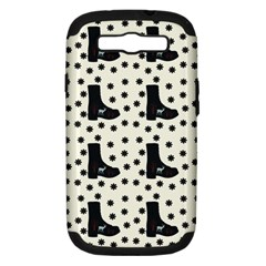 Deer Boots White Black Samsung Galaxy S Iii Hardshell Case (pc+silicone)