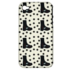 Deer Boots White Black Apple Iphone 4/4s Hardshell Case (pc+silicone)