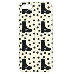 Deer Boots White Black Apple Iphone 5 Hardshell Case With Stand