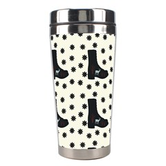 Deer Boots White Black Stainless Steel Travel Tumblers