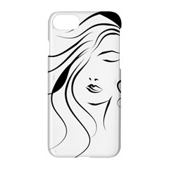 Womans Face Line Apple Iphone 8 Hardshell Case