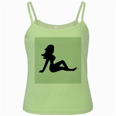 Girls Of Fitness Green Spaghetti Tank