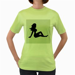 Girls Of Fitness Women s Green T Shirt