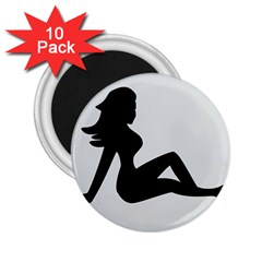 Girls Of Fitness 2 25  Magnets (10 Pack)