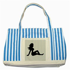 Girls Of Fitness Striped Blue Tote Bag
