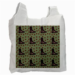 Deer Boots Green Recycle Bag (one Side)