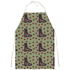 Deer Boots Green Full Print Aprons