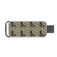 Deer Boots Green Portable Usb Flash (two Sides)