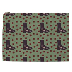 Deer Boots Green Cosmetic Bag (xxl)