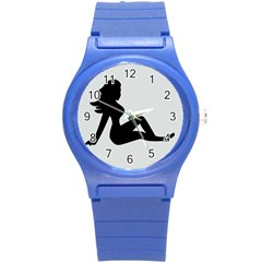 Girls Of Fitness Round Plastic Sport Watch (s)