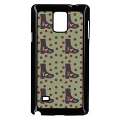 Deer Boots Green Samsung Galaxy Note 4 Case (black)
