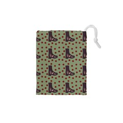 Deer Boots Green Drawstring Pouches (xs)