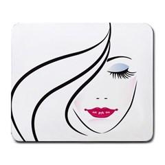Makeup Face Girl Sweet Large Mousepads