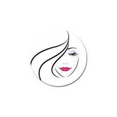 Makeup Face Girl Sweet Golf Ball Marker (10 Pack)
