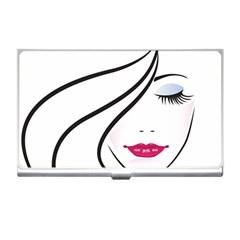 Makeup Face Girl Sweet Business Card Holders