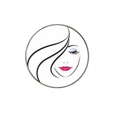 Makeup Face Girl Sweet Hat Clip Ball Marker