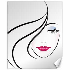 Makeup Face Girl Sweet Canvas 16  X 20