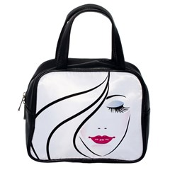 Makeup Face Girl Sweet Classic Handbags (one Side)