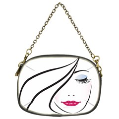 Makeup Face Girl Sweet Chain Purses (one Side)