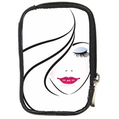 Makeup Face Girl Sweet Compact Camera Cases