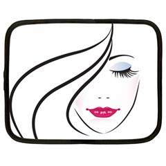 Makeup Face Girl Sweet Netbook Case (xxl)