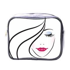 Makeup Face Girl Sweet Mini Toiletries Bags
