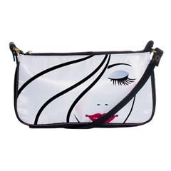 Makeup Face Girl Sweet Shoulder Clutch Bags