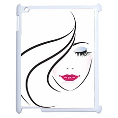 Makeup Face Girl Sweet Apple Ipad 2 Case (white)