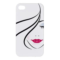 Makeup Face Girl Sweet Apple Iphone 4/4s Hardshell Case