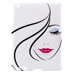 Makeup Face Girl Sweet Apple Ipad 3/4 Hardshell Case (compatible With Smart Cover)