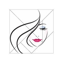 Makeup Face Girl Sweet Acrylic Tangram Puzzle (4  X 4 )